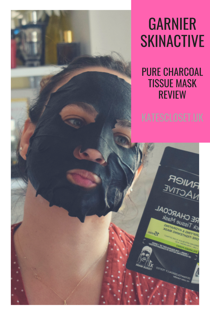 Garnier skinactive NEW pure charcoal black tissue mask review
