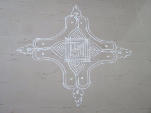 Free hand kolam with video