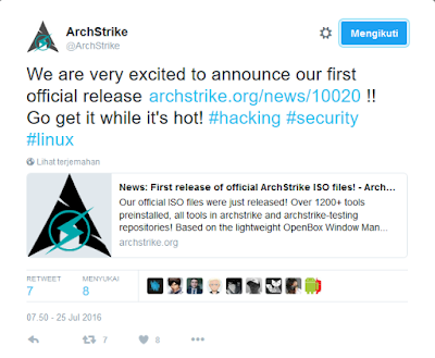 Release ArchStrike Announce