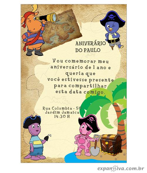 modelos deconvites de aniversario infantil Backyardigans %2B04 - Convites de Aniversário Infantil Backyardigans