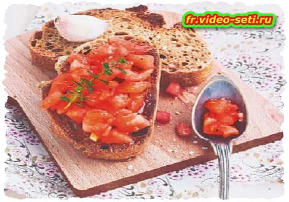 Pain catalan à la tomate