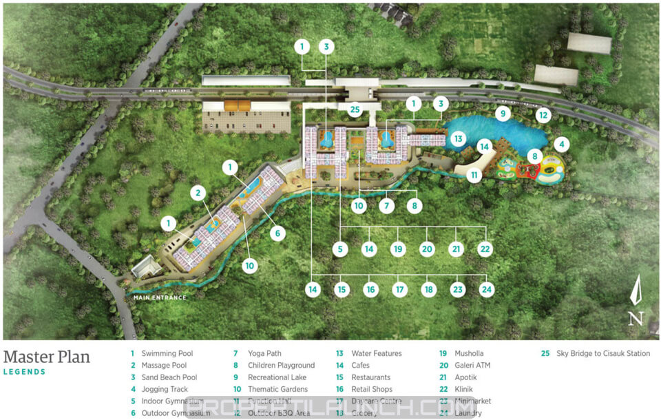 Master Plan Serpong Garden Apartment
