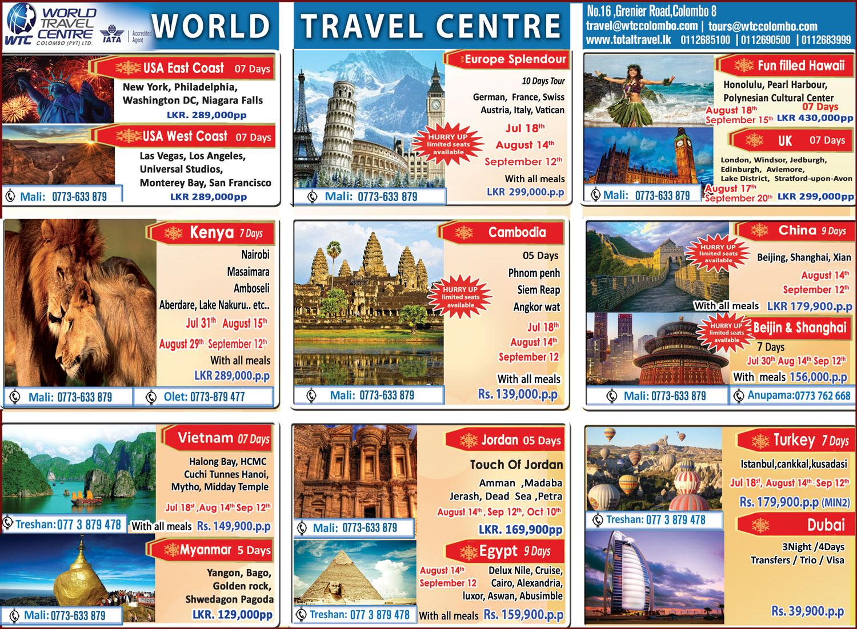 World Travel Centre Colombo (Pvt) Ltd: Latest Overseas Tours