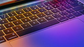 Photo of an illuminated keyboard