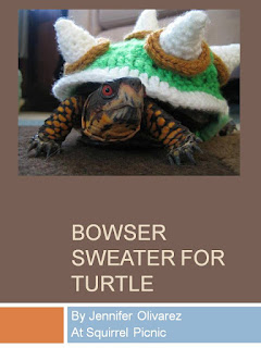 http://squirrelpicnic.com/2013/05/09/make-it-challenge-5-crochet-bowser-sweater-for-a-turtle/