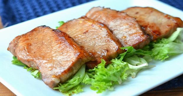 Skillet Seared Honey Mustard And Balsamic Pork Chops Recipe