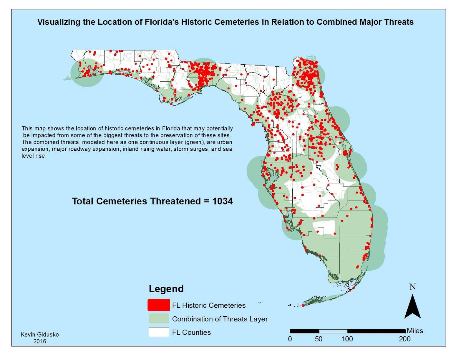 Join Us On A Monitoring Dash Through Floridas Cemeteries - Florida map sea level rise