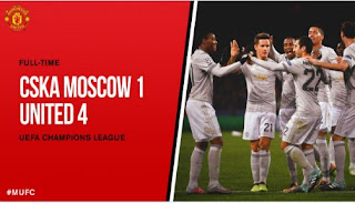 Video Gol Manchester United vs CSKA Moskow 4-1 Liga Champions 27/9/2017