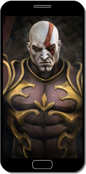 Kratos Armure - Fond d'Écran en QHD pour Mobile