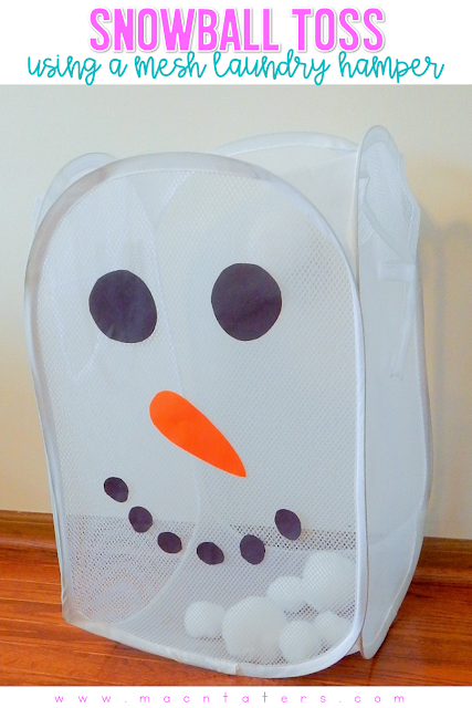 Snowball Toss Using A Mesh Laundry Hamper