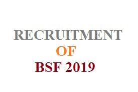 RECRUITMENT OF BSF 2019,bsf recruitment 2019, bsf recruitment 2018 online apply,bsf online form 2019,bsf.nic.in 2019