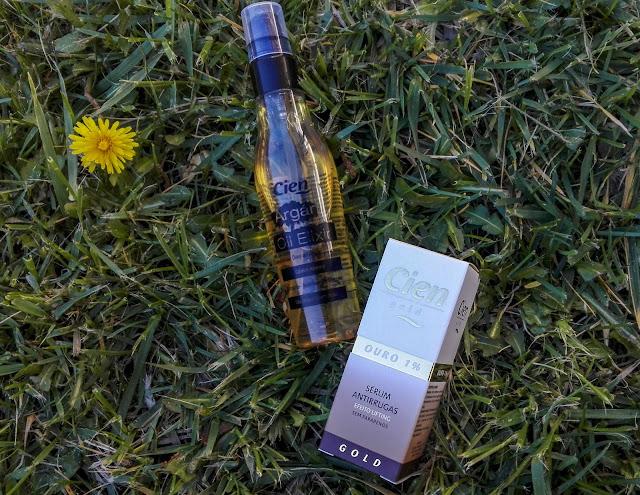 Oleo do aragão e sérum ouro 1% da Cien; compras