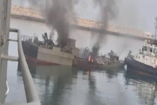Konarak - Kapal Iran Meledak Akibat Gagal Meletakkan Ranjau