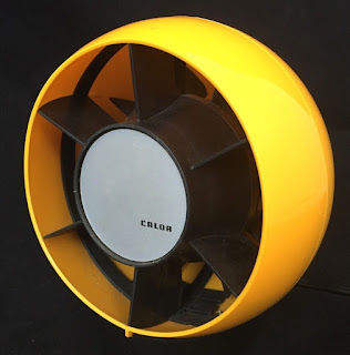 Retro Yellow Table Fan - By Calor c1970s Vintage Nice Condition