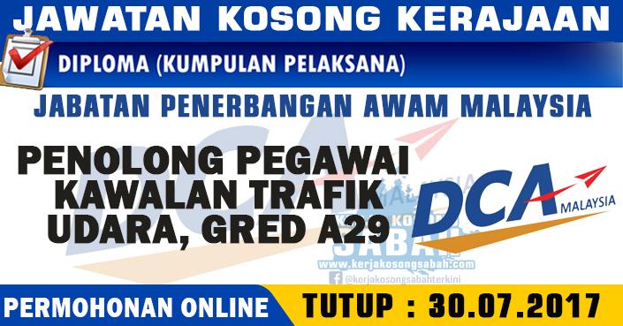 Jawatan Kosong Penolong Pegawai Kawalan Trafik Udara Gred A29 Jawatan Kosong Terkini Negeri Sabah