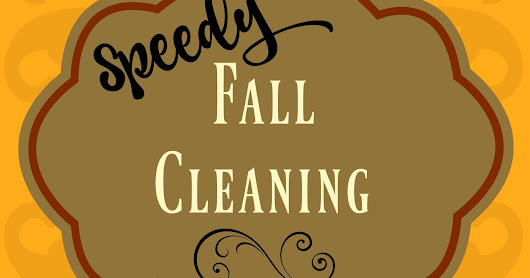 Speedy Fall Cleaning in the Kitchen