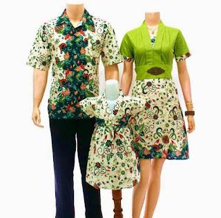 model baju batik sarimbit keluarga terbaru