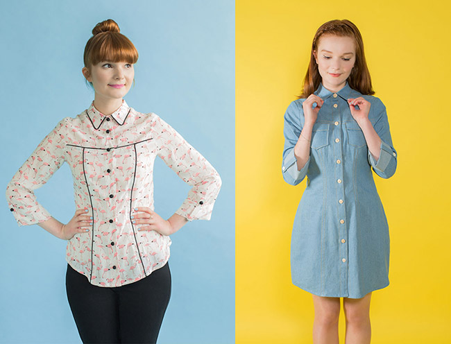 Sew Your Own Shirt or Shirt Dress online workshop - Rosa shirt or shirt dress