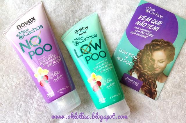 shampoo e condicionador Novex Low Poo No Poo