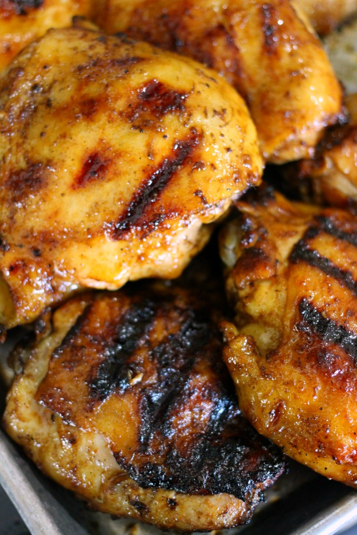This Sweet Sriracha Grilled Chicken recipe combines the complimentary flavors of honey and sriracha to make a delicious grill sauce.