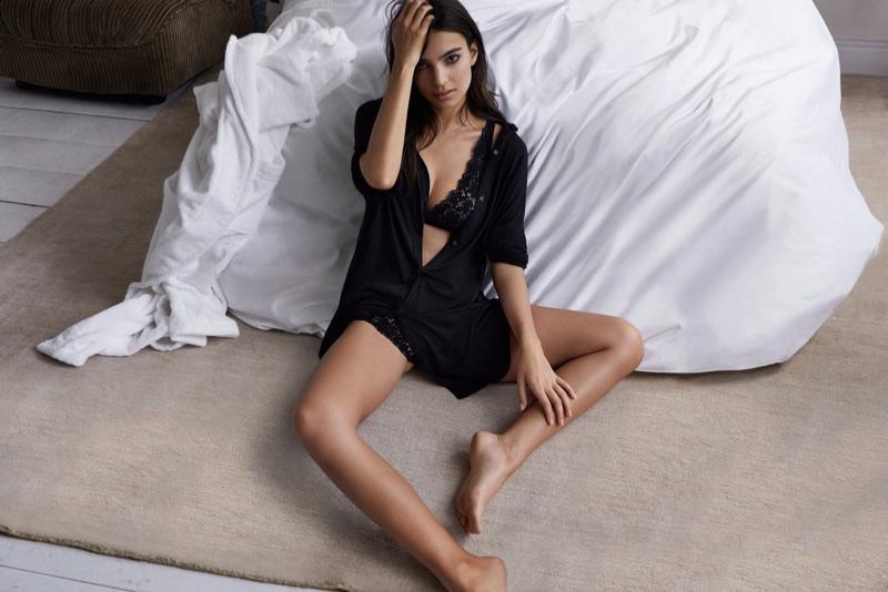 Emily Ratajkowski stars in DKNY Intimates' fall-winter 2017 campaign