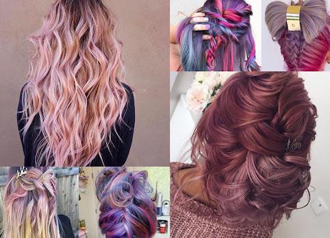 Modne kolory włosów - to podoba mi się najbardziej. Kolorowe włosy, upięcia, zdjęcia.