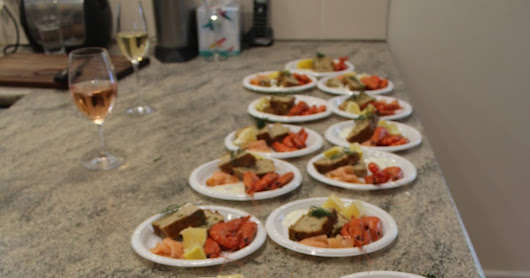 Easy plated Seafood Entree for 20 People For Christmas