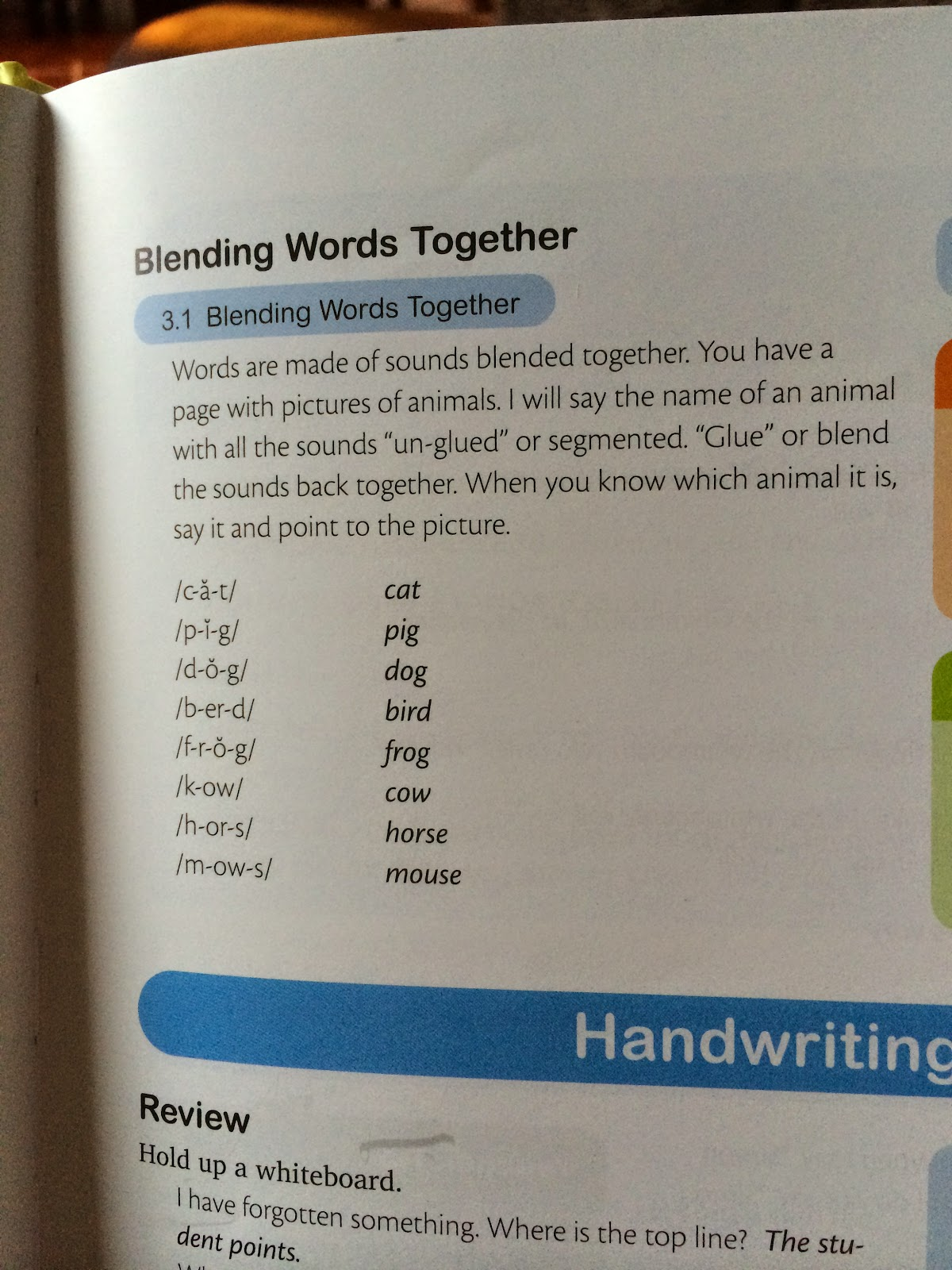 blending phonemes into words
