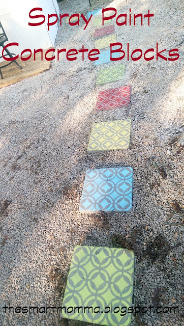 Painted Concrete Block Table