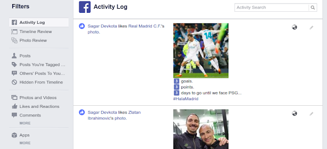 Activity log image How to Find Recently Watched Videos on Facebook