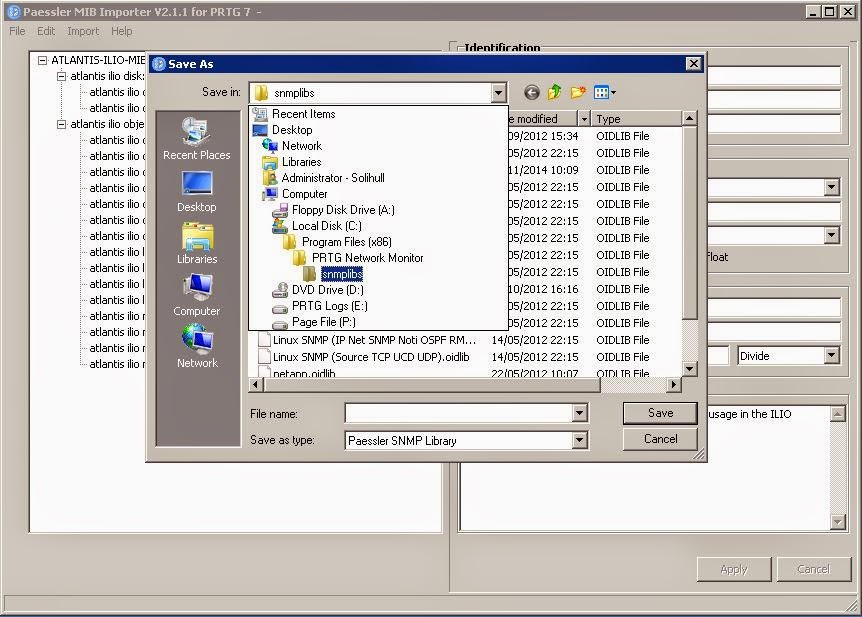 The WinTeller: Monitor Atlantis ILIO with PRTG using SNMP