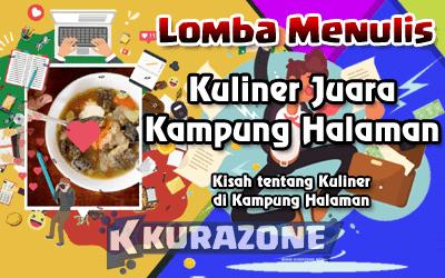 Lomba Menulis Artikel - Kuliner Juara Kampung Halaman Berhadiah Uang Tunai + Sertifikat + Voucher