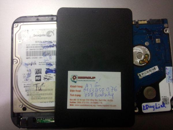 Cứu dữ liệu ổ cứng cắm ngoài toshiba 500Gb BAD nặng