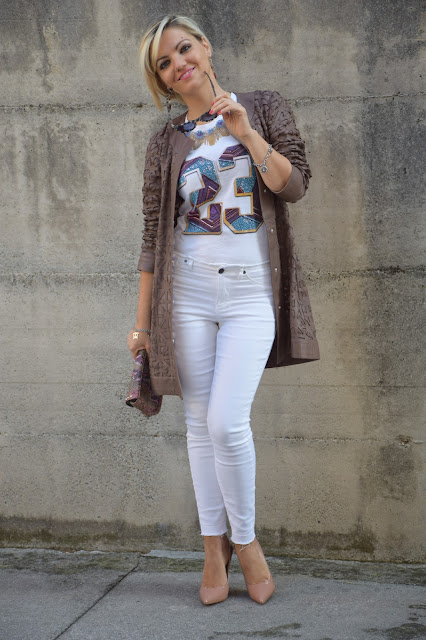 outfit jeans bianchi come abbinare i jeans bianchi abbinamenti jeans bianchi outfit settembre 2016 outfit autunnali mariafelicia magno fashion blogger colorblock by felym web influencer italiani blogger italiane di moda fashion blogger italiane