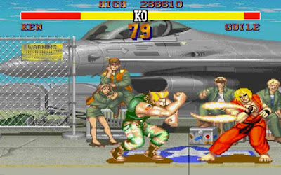 Guile affronta Ken nel suo stage di ''Street Fighter II''