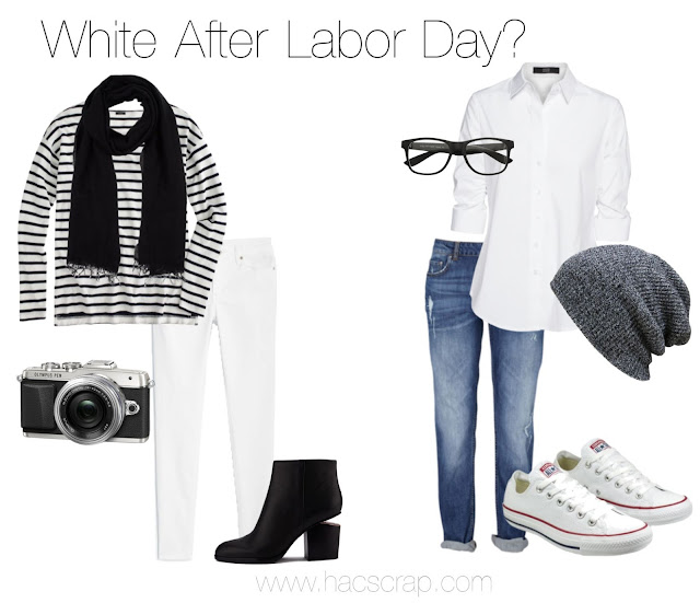 Ideas for rocking your fall style with white pieces from your closet AFTER Labor Day.