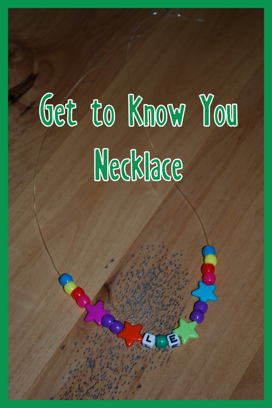 Get To Know You Necklace Preschool Items