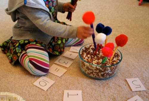 math activity for tree theme preschool
