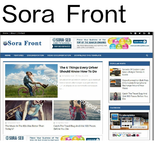 Sora front magazine blogger template
