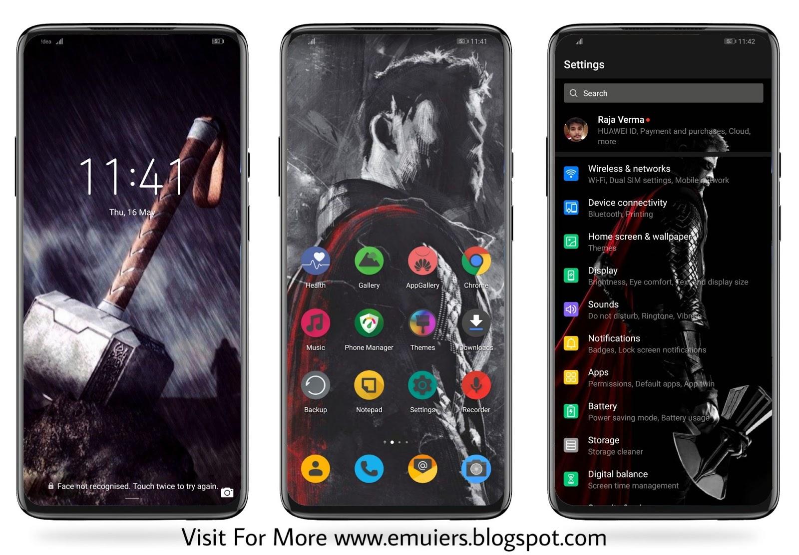Thor EMUI Theme Download For Huawei & HONOR Phones || EMUI