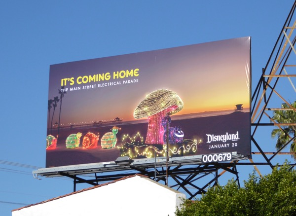 Disneyland Main Street Electrical Parade 2017 billboard