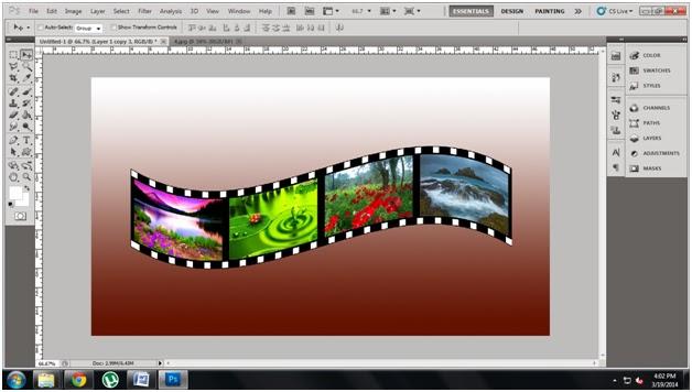 3d film roll effect