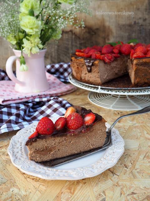 pieczony-sernik-czekoladowy