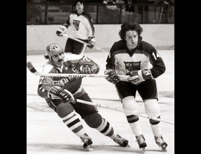 Vs. NY Rangers: Yvon Labre and Don Murdoch in 1976-77