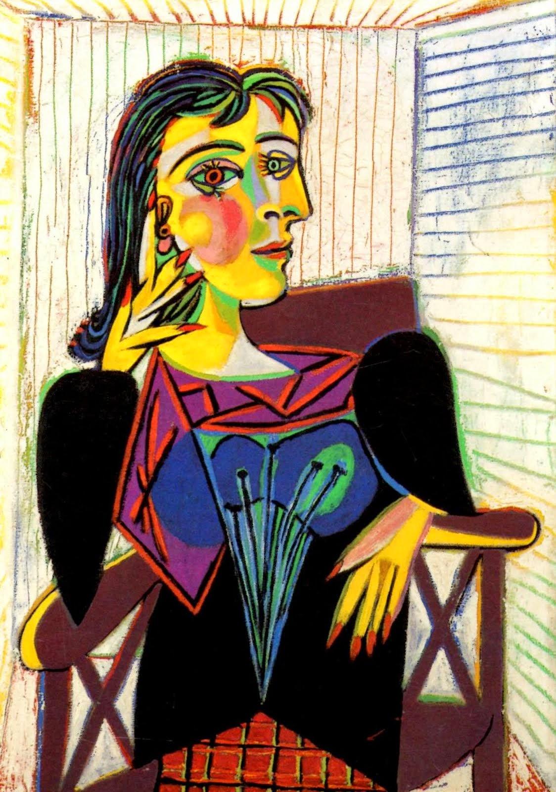 Retrato de Dora Maar - Picasso e suas pinturas ~ O maior expoente da Arte Moderna