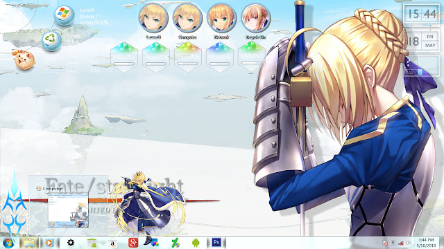 Fate Stay Night - Saber Theme Win 7 by Enji Riz Lazuardi