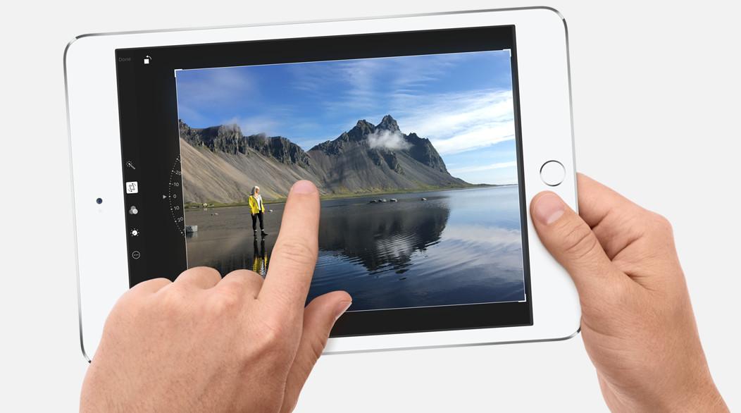 Apple iPad mini 4 tablet close up photo