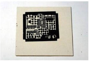Hasil PCB Etching