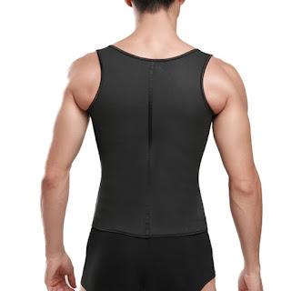 Steel Boned Latex Waist Trainer Vest for Men