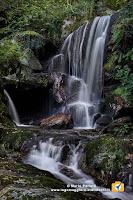 Il salto principale della cascata tra Losone e Golino